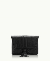 GiGi New York Ava Clutch Black Genuine Python