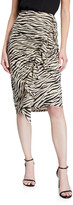 A.L.C. Metz Animal-Print Ruffle Skirt