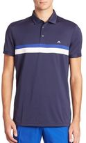 J. Lindeberg Regular Fit Striped Polo