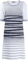 D-Exterior D.Exterior stripe detail stretch knit dress