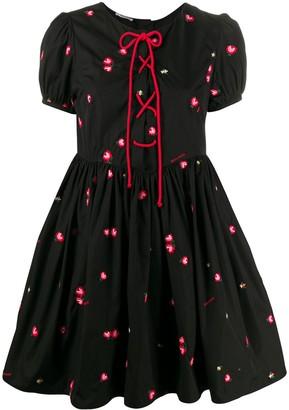 Miu Miu floral embroidered short dress