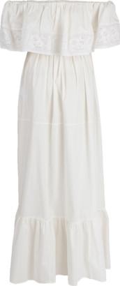 Blugirl Tier Off Shoulder Maxi Dress