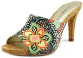 Anne Klein AK 7 Objective Women US 8.5 Multi Color Peep Toe Mules