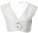 Chanel Grey Tweed Tops