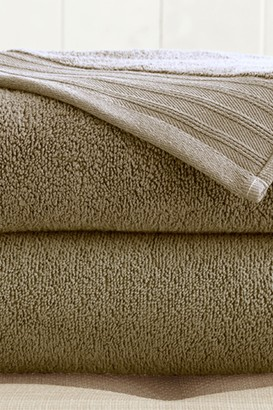 Oversized Quick Dry Bath Sheets - Set of 2 - Taupe