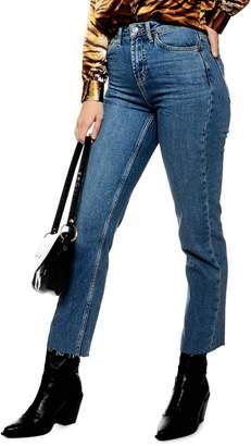 Topshop Raw Hem Straight Jeans 30-Inch Leg