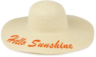 Just Jamie Hello Sunshine Floppy Straw Hat