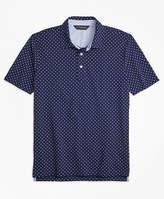 Brooks Brothers Slim Fit Mini-Floral-Print Pique Polo Shirt