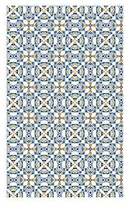 Camilla And Marc Huella Deco h1016-ca-xs Maiolica Rug Carpet Mat Floor, Vinyl, 57 x 96 cm