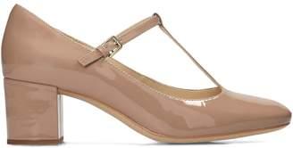 Clarks Orabella Fern Leather T-Bar Shoes