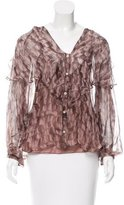 Moschino Cheap & Chic Moschino Cheap and Chic Abstract Print Silk Blouse w/ Tags