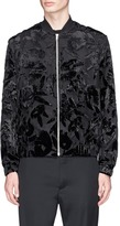 McQ Floral devoré MA-1 bomber jacket