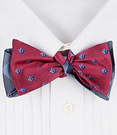 Daniel Cremieux Fish Plaid Reversible Silk Bow Tie