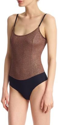 Commando Soft Sparkle Cami Thong Bodysuit