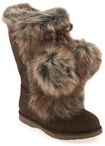 Old Navy Faux-Fur Pom-Pom Boots