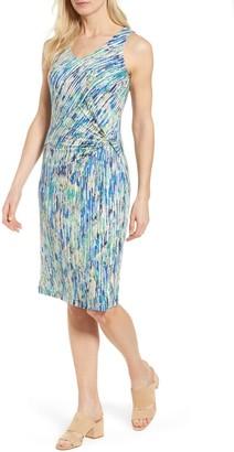 Nic+Zoe Mirage Print Side Twist Dress (Regular & Petite)
