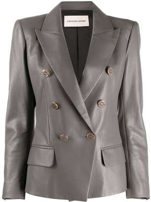 Alexandre Vauthier Leather Double-Breasted Blazer