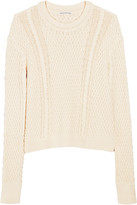 Autumn Cashmere Cable-knit cotton sweater