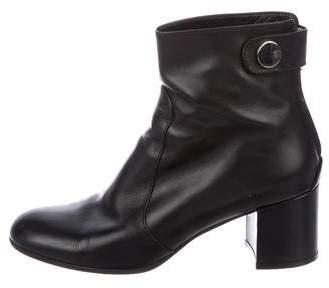 Gianvito Rossi Leather Round-Toe Boots
