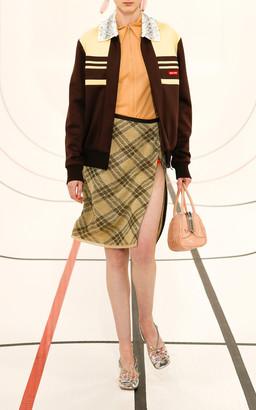 Miu Miu Plaid Lurex Wrap Skirt