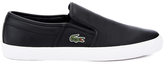 Lacoste Men's Gazon 316 1 Slip On Trainers Black