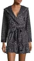 Betsey Johnson Striped Terry Cloth Robe