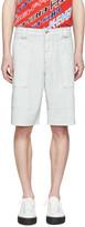 Kenzo Grey Coated Cargo Shorts