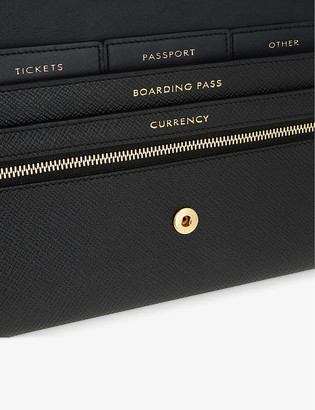 Smythson Panama Marshall leather travel wallet