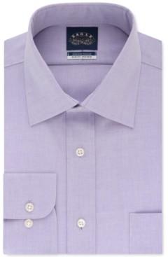 Eagle Men's Slim-Fit Non-Iron Flex Collar Dress Shirt