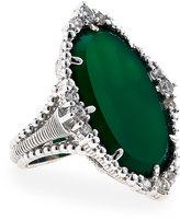 Judith Ripka Sophia Chalcedony & Sapphire Ring, Green