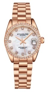 Stuhrling Original Women's Rose Gold Stainless Steel Bracelet Watch 31mm
