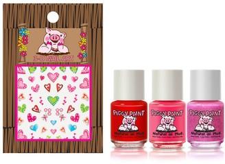 Piggy Paint All the Heart Eyes Set of 3 Nail Polish & Nail Art