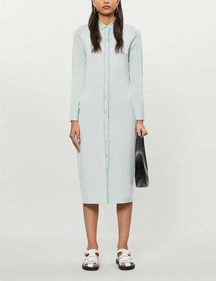 Reiss Lettie button-up knitted midi dress