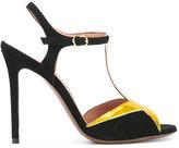L'Autre Chose contrast sandals - women - Patent Leather/Suede/Leather - 36