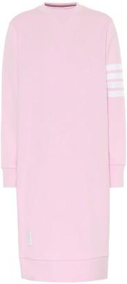 Thom Browne Cotton sweatshirt midi dress