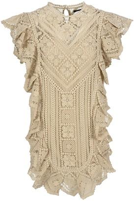 Isabel Marant Zanetti Lace Ruffled Dress