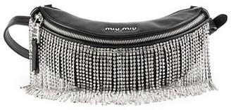 Miu Miu Crystal Fringe Leather Belt Bag