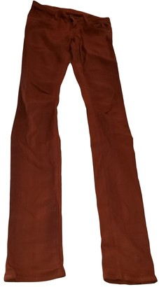 Helmut Lang Orange Cotton Jeans