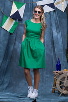 Shabby Apple Nixie Fit & Flare Dress Green