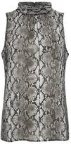 MICHAEL Michael Kors Women's Anaconda Sleeveless Top Black