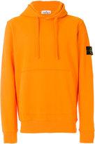 Stone Island logo patch hoodie - men - Cotton - L