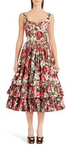 Dolce & Gabbana Women's Floral Print Poplin Dress