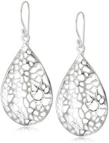 "Argentovivo Lace"" Teardrop on Wire Earrings"