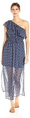 Lucky Brand Women's Geo One Shoulder Maxi Dress