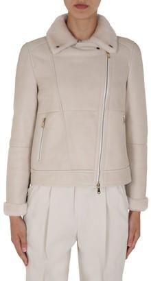 Brunello Cucinelli Zipped Leather Jacket