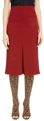 Victoria Beckham Pleat Detail Crepe Pencil Skirt