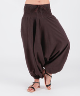 Aller Simplement Chocolate Ruched Harem Pants