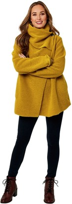 Joe Browns Cosy Wool Blend Lightweight Jacket - Mustard