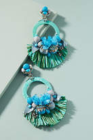 Ranjana Khan Turquoise Fan Drop Earrings
