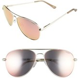Le Specs Women's 'Drop Top' 60Mm Aviator Sunglasses - Brushed Gold